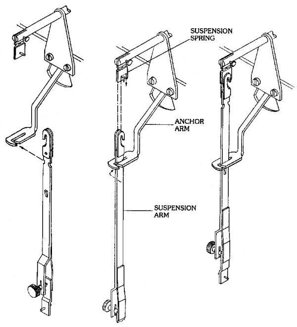 the suspension spring